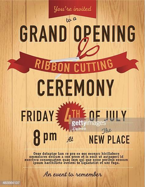 Ribbon Cutting Ceremony Invitation Template Best Of Opening Ceremony Stock Illustrations and Cartoons