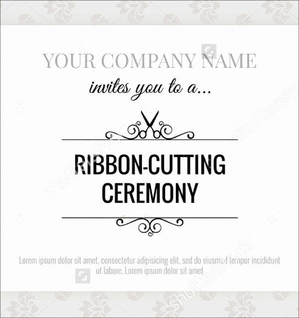 Ribbon Cutting Ceremony Invitation Template Inspirational 10 Opening Invitation Templates Psd Ai