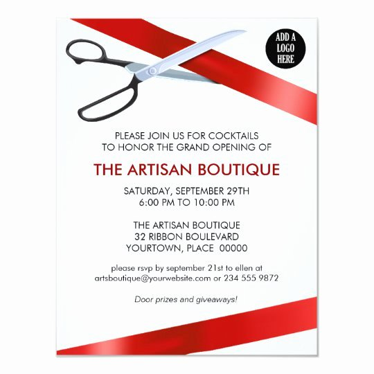 Ribbon Cutting Ceremony Invitation Template Inspirational Red Ribbon Cutting Grand Opening Invitation