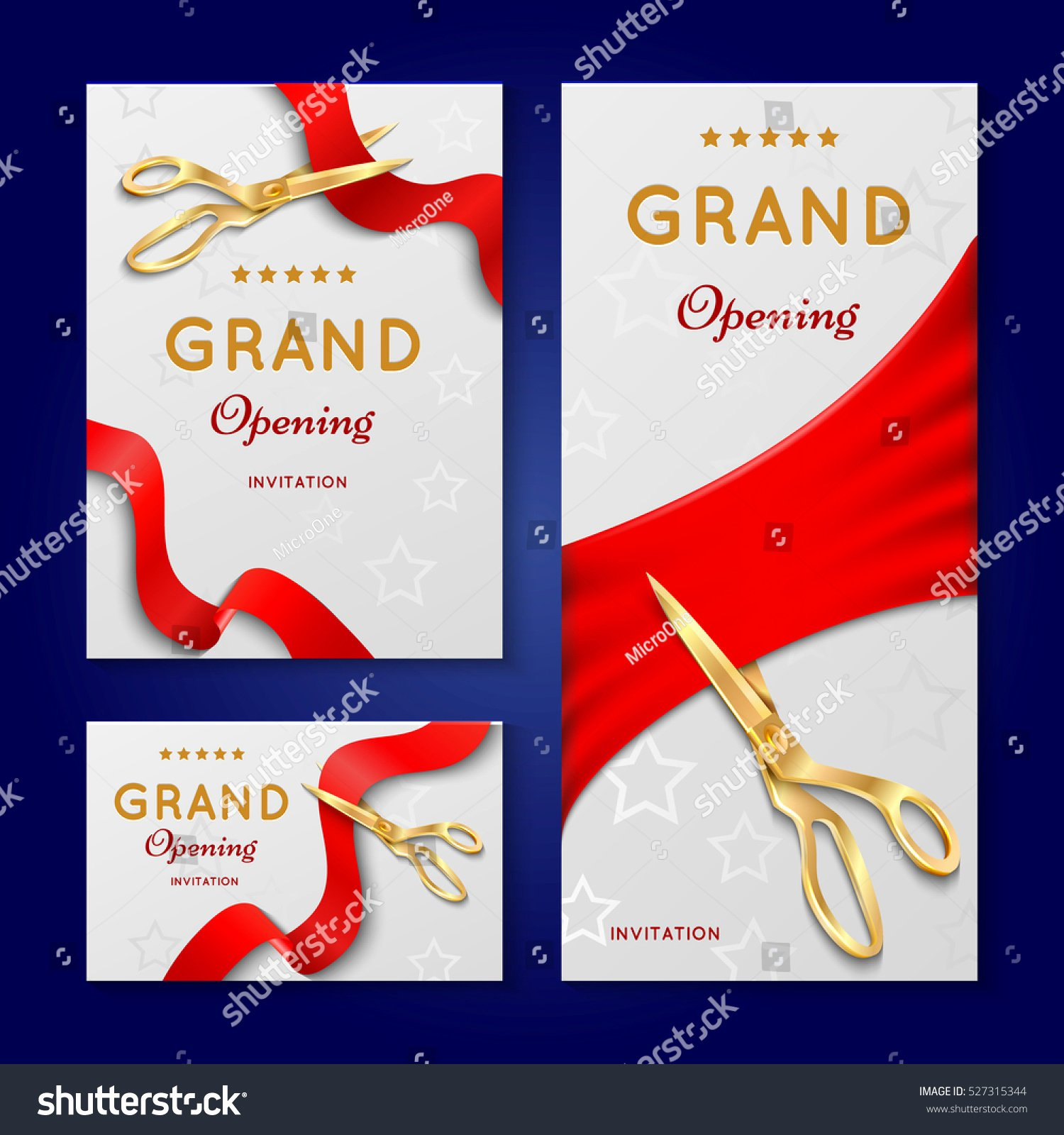 Ribbon Cutting Ceremony Invitation Template Inspirational Ribbon Cutting Scissors Grand Opening Ceremony Stock
