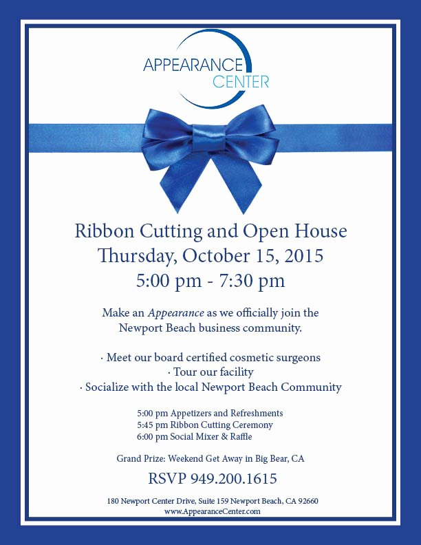 Ribbon Cutting Ceremony Invitation Template Lovely Appearance Center Ribbon Cutting Newport Beach Chamber