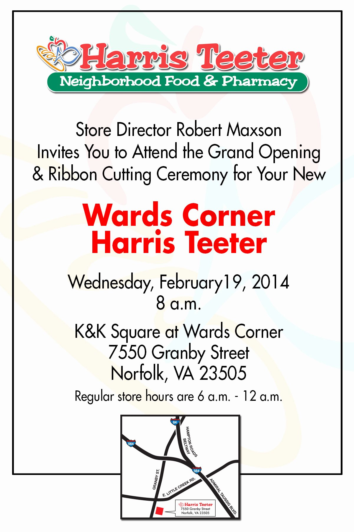 Ribbon Cutting Ceremony Invitation Template Lovely Harris Teeter