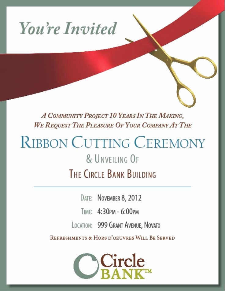 Ribbon Cutting Ceremony Invitation Template Lovely Pin On Military Inspiration