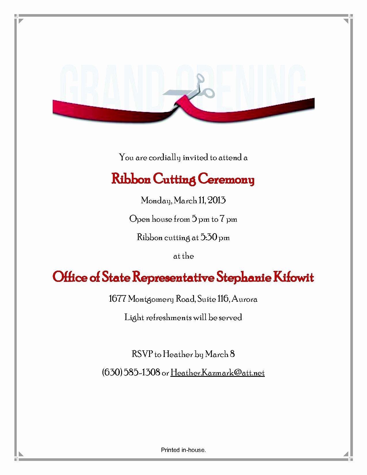 Ribbon Cutting Ceremony Invitation Template New Swearing In Ceremony Invitation