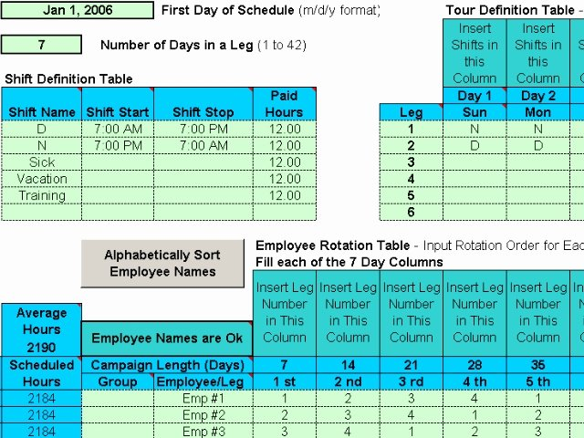 Rotating Overtime Schedule Template Luxury Rotating Shift Schedules for Your People