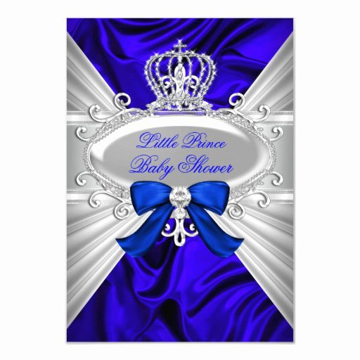 Royal Baby Shower Invitation Template Awesome Little Prince Royal Blue Boy Baby Shower Invite