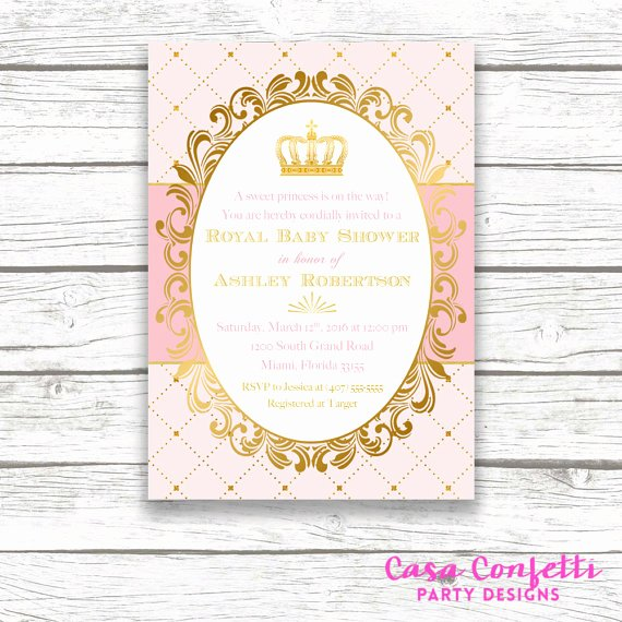 Royal Baby Shower Invitation Template Awesome Princess Baby Shower Invitation Royal Baby Shower Invitation