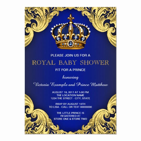 Royal Baby Shower Invitation Template Beautiful Fancy Prince Baby Shower Invitations