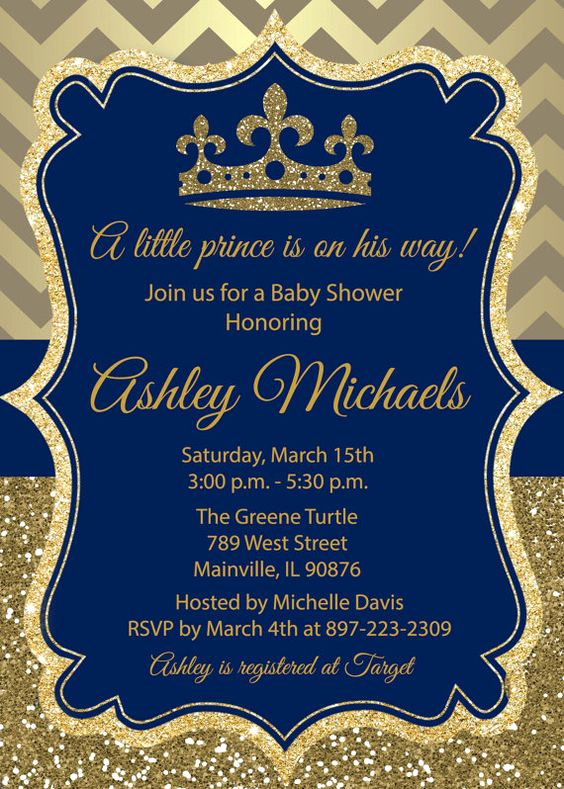Royal Baby Shower Invitation Template Beautiful Royal themed Baby Shower Invite for A Prince