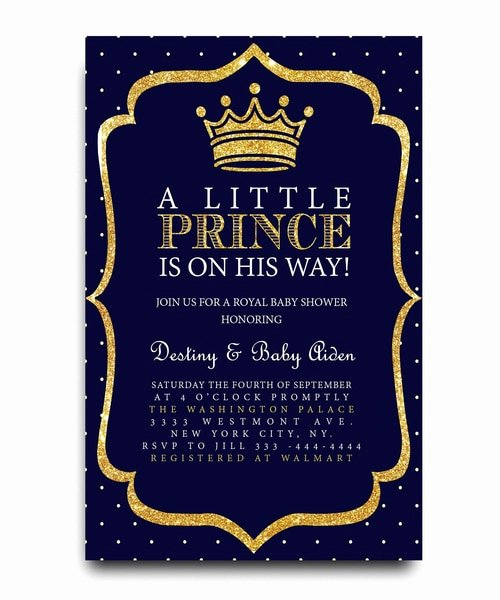 Royal Baby Shower Invitation Template Best Of Little Prince Baby Shower Invitation Royal Baby
