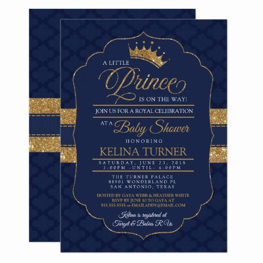 Royal Baby Shower Invitation Template Elegant Royal Little Prince Baby Shower Invitation