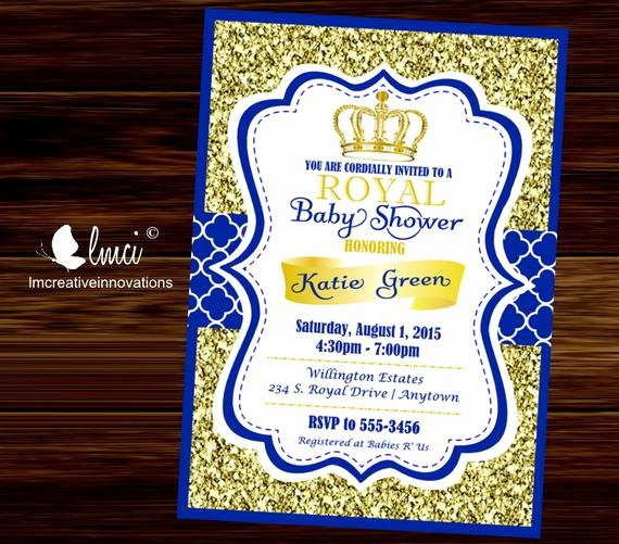 Royal Baby Shower Invitation Template Inspirational Royal Baby Shower Invitation Little Prince Baby Showerblue