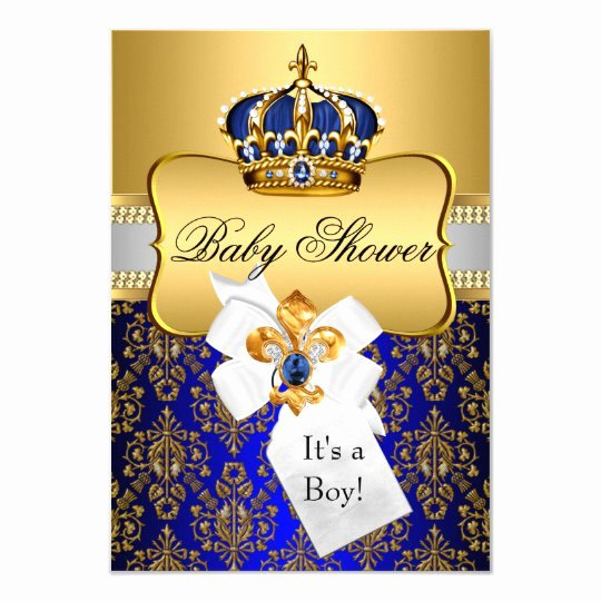 Royal Baby Shower Invitation Template Lovely Little Prince Royal Blue Crown Baby Shower Invite