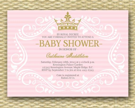 Royal Baby Shower Invitation Template Lovely Royal Princess Baby Shower Invitation Little Princess Baby