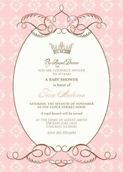 Royal Baby Shower Invitation Template Luxury Free Baby Shower Templates