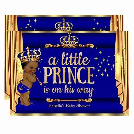 Royal Baby Shower Invitation Template Luxury Royal Blue Gold Drapes Prince Baby Shower Ethnic