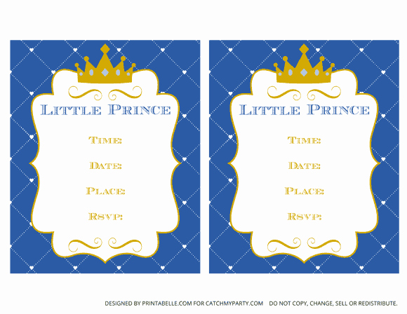 Royal Baby Shower Invitation Template New Download these Charming Free Prince Party Printables