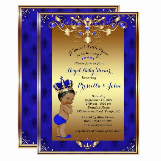 Royal Baby Shower Invitation Template Unique Little Prince Baby Shower Invitation Royal Blue Card