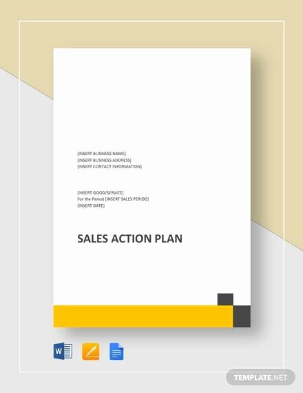 Sales Action Plan Template Best Of 7 Sample Sales Action Plans Free Sample Example