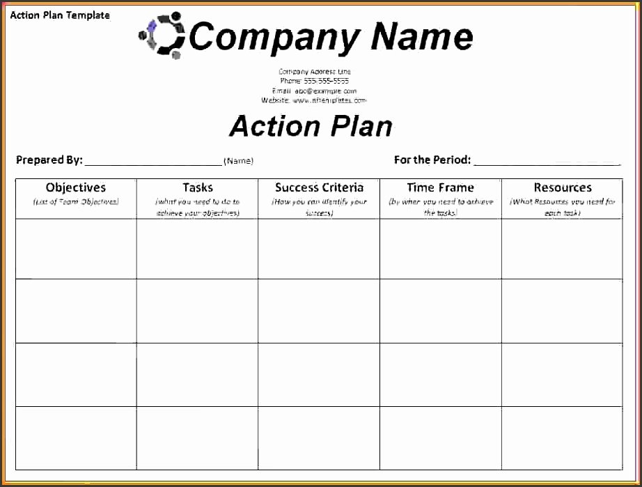 Sales Action Plan Template Elegant 4 Action Plan Template Excel Sampletemplatess
