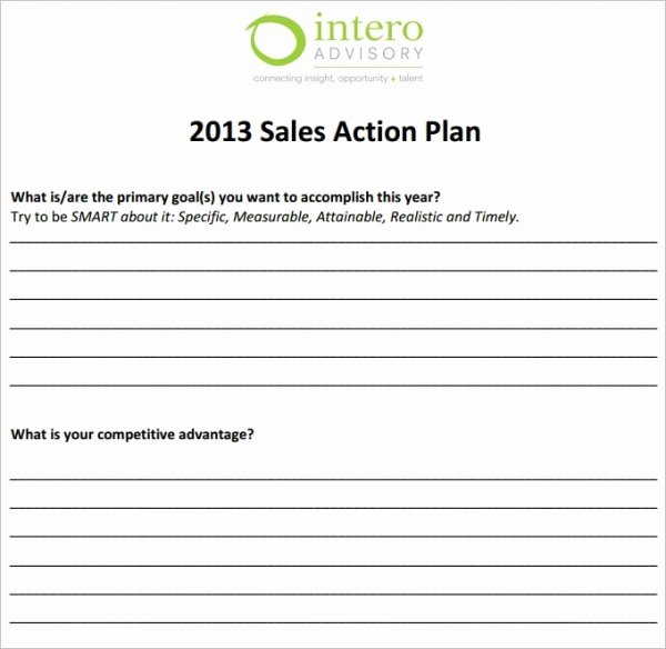 Sales Action Plan Template Excel Awesome 28 Sales Action Plan Templates Docs Pdf