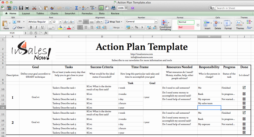 Sales Action Plan Template Excel Awesome Perfect Business Action Plan Template Example In Excel