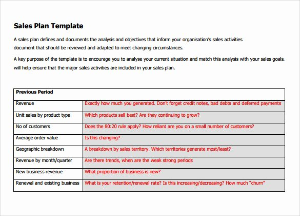Sales Action Plan Template Excel Best Of Free 22 Sales Plan Templates In Pdf Rtf Ppt