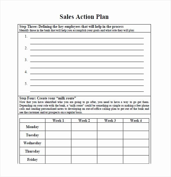 Sales Action Plan Template Excel Elegant 7 Free Sales Plan Templates Excel Pdf formats