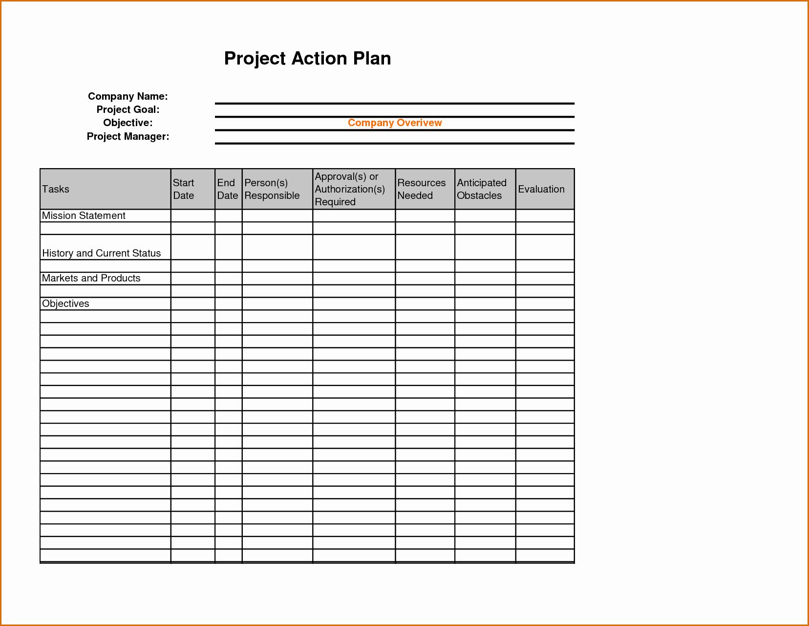 Sales Action Plan Template Excel Elegant 8 Sales Action Plan Template