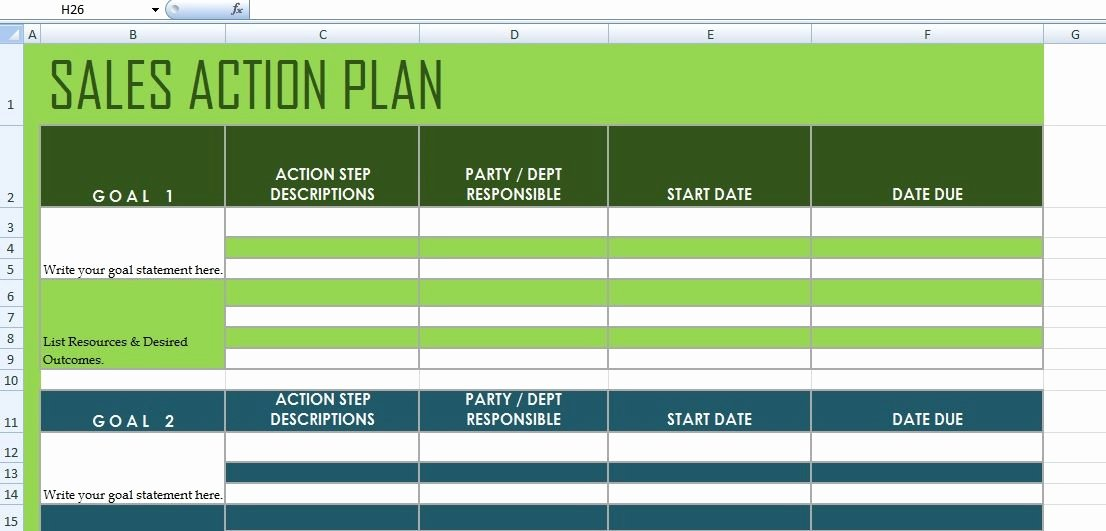 Sales Action Plan Template Excel Elegant Get Sales Action Plan Template Xls