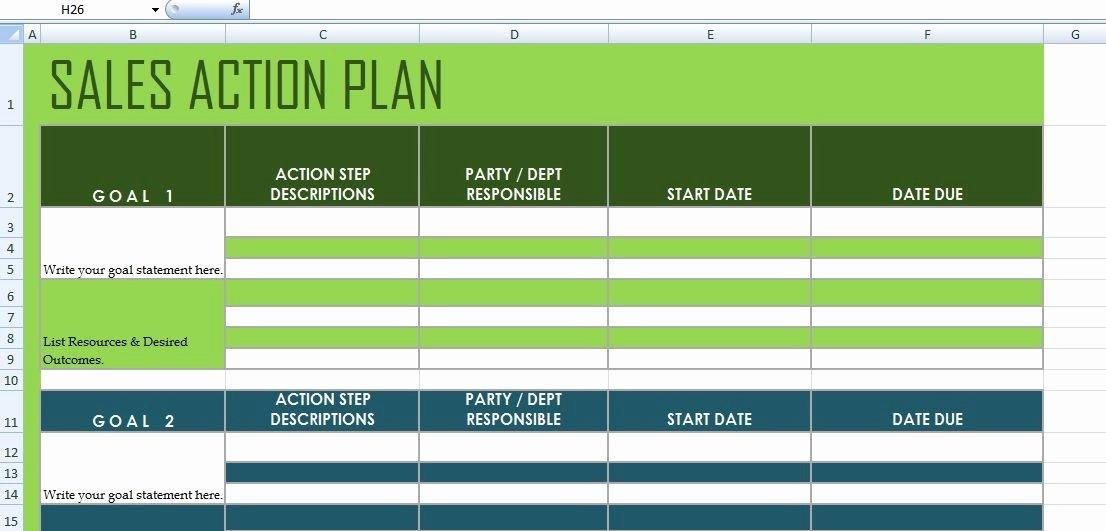 Sales Action Plan Template Excel Elegant Get Sales Action Plan Template Xls