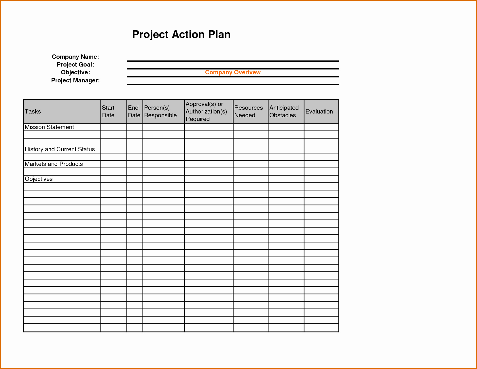 Sales Action Plan Template Excel Inspirational 8 Sales Action Plan Template