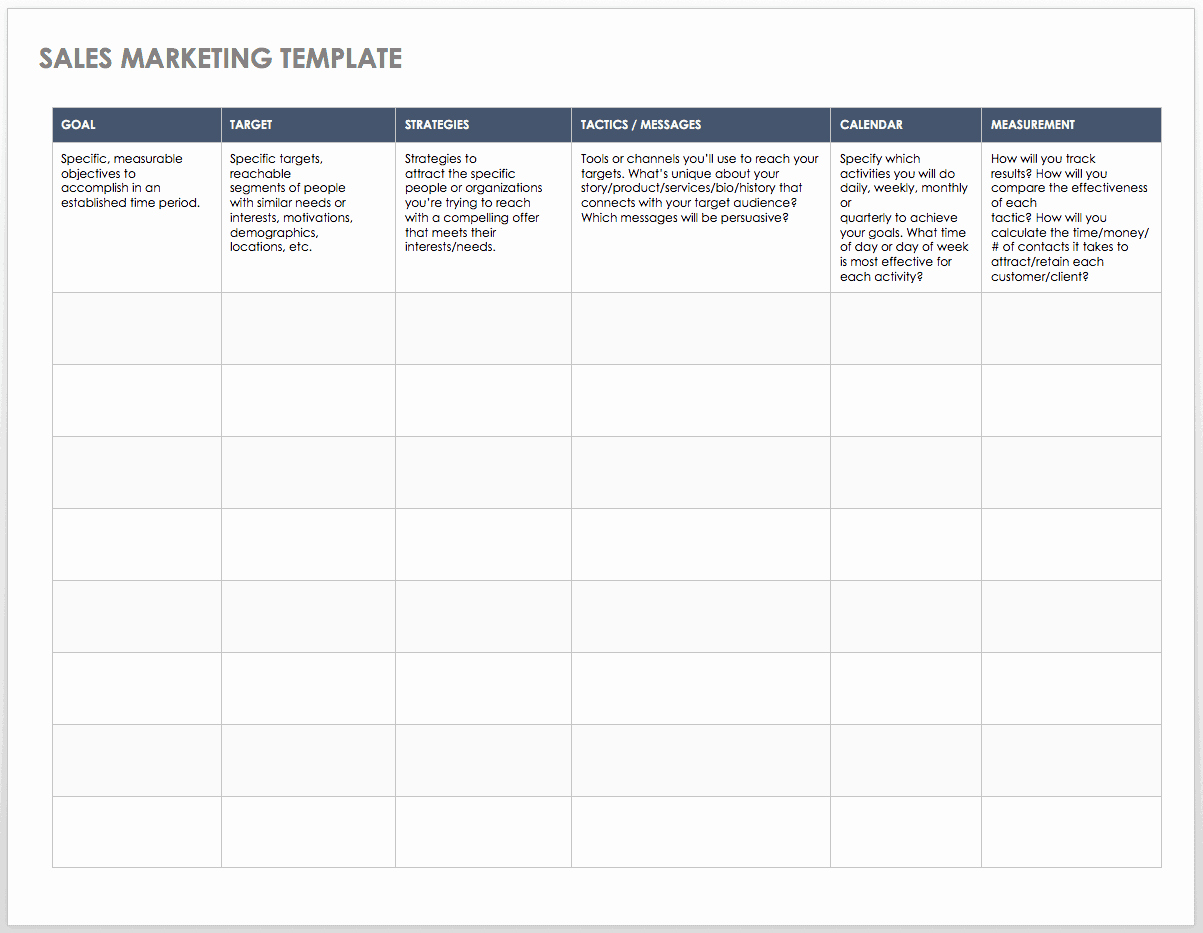 Sales Action Plan Template Excel Inspirational Free Sales Pipeline Templates