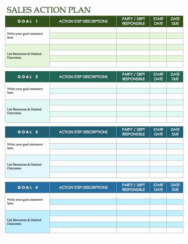 Sales Action Plan Template Excel Inspirational Free Sales Plan Templates Smartsheet