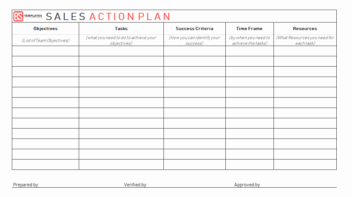 Sales Action Plan Template Excel Lovely Action Plan Templates – Free Templates [word