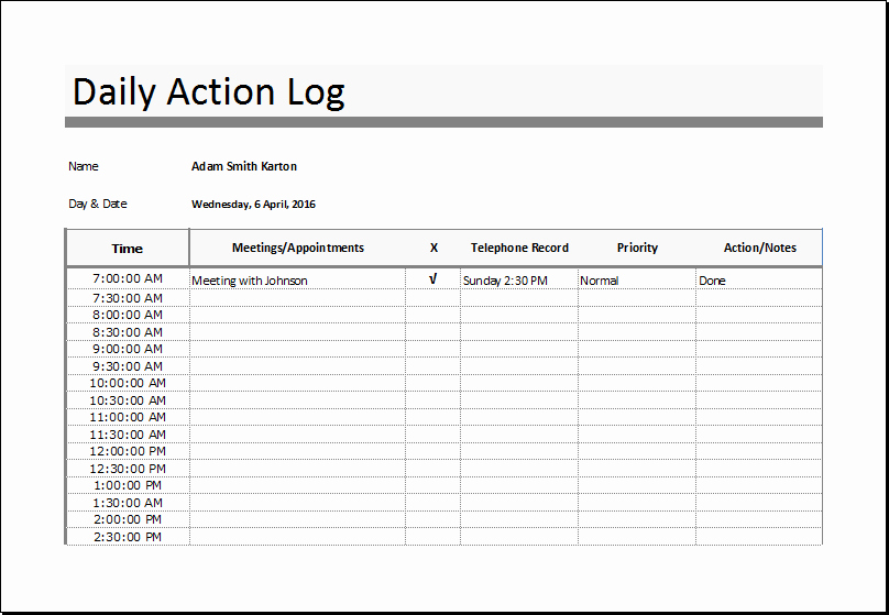 Sales Action Plan Template Excel Lovely Sales Log Food Nutrition and Action Log Templates