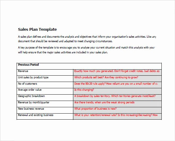 Sales Action Plan Template Lovely Free 20 Sales Plan Samples In Google Docs