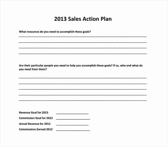 Sales Action Plan Template Luxury top 4 Resources to Get Free Sales Plan Templates Word