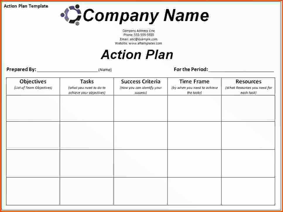 Sales Action Plan Template Unique Sales Rep Territory Business Plan
