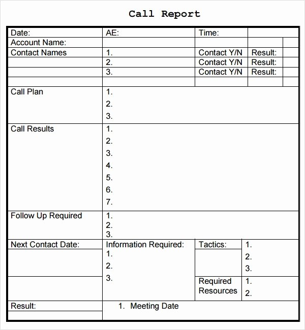Sales Call Planner Template Fresh Sales Report Template 9 Free Pdf Doc Download