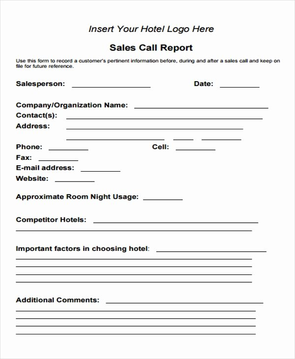 Sales Lead form Template Best Of Free 15 Sales Report form Templates