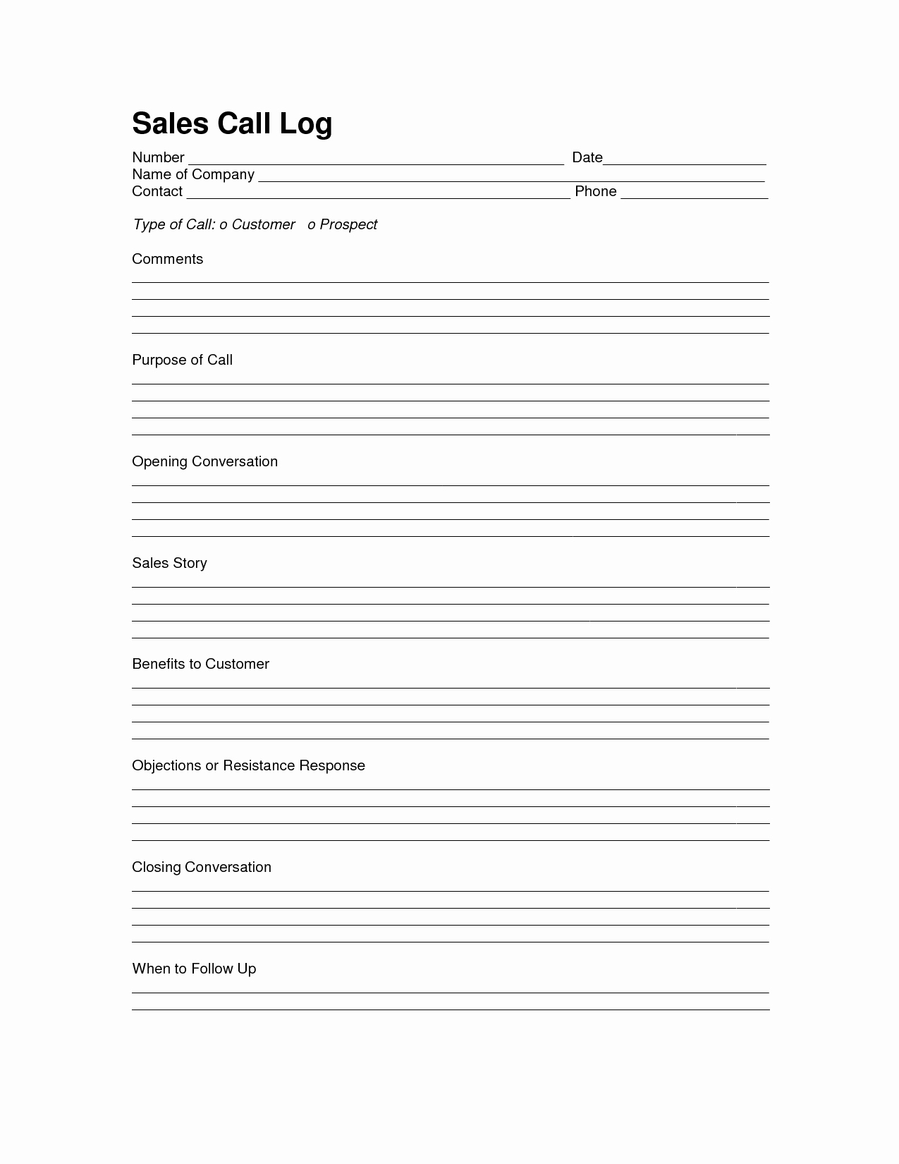 Sales Lead form Template Best Of Sales Log Sheet Template Sales Call Log Template