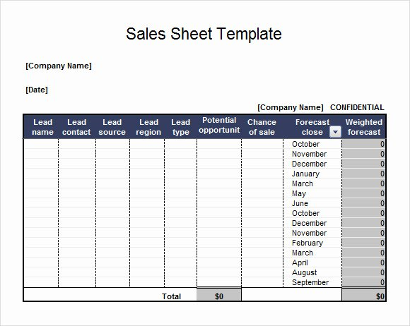 Sales Lead form Template Elegant Free 7 Sales Sheet Samples In Google Docs