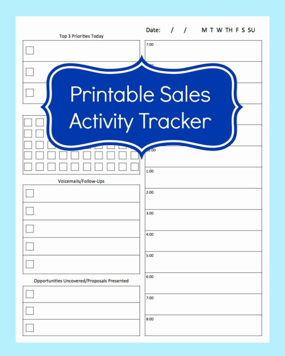 Sales Lead form Template Inspirational 10 Sales Tracking Templates Free Word Excel Pdf