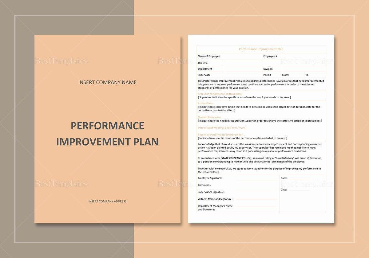 Sales Performance Improvement Plan Template Beautiful Performance Improvement Plan Template In Word Google Docs