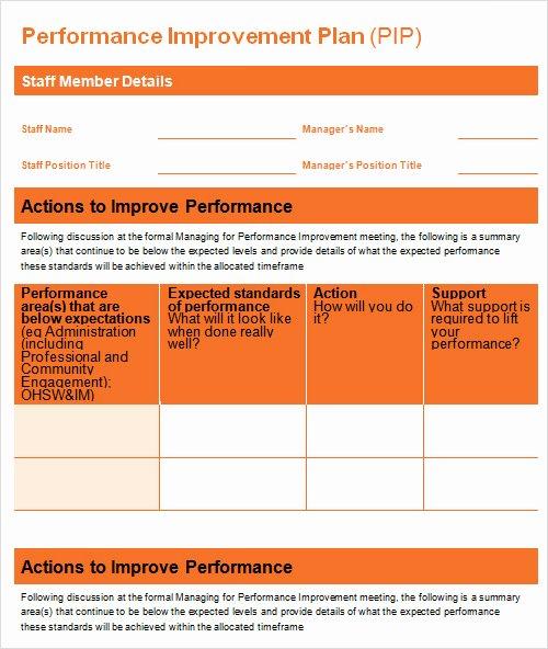 Sales Performance Improvement Plan Template Luxury 27 Plan Templates