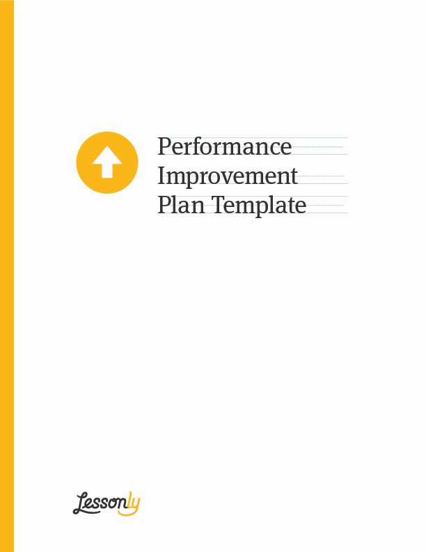 Sales Performance Improvement Plan Template New Free Performance Improvement Plan Template Lessonly