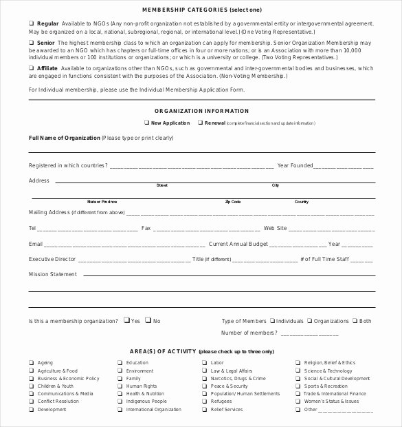 Sample Church Membership form Template Awesome Membership forms for organizations Daily
