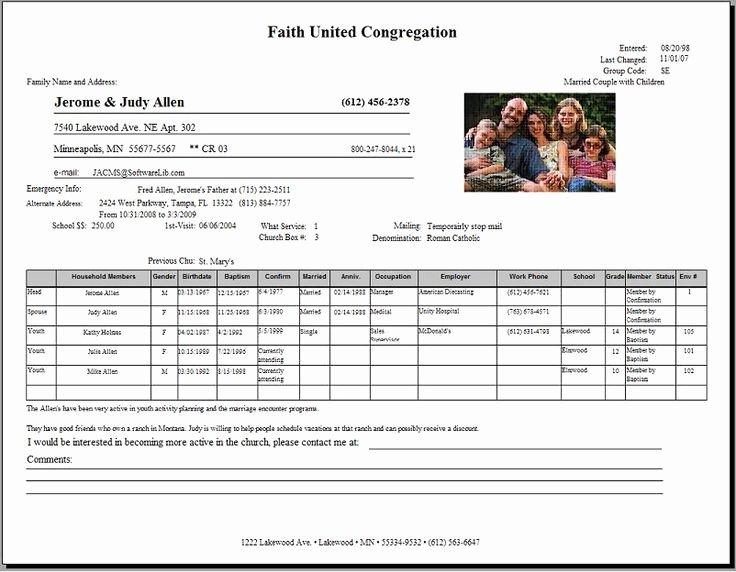Sample Church Membership form Template Beautiful Church Membership Application form Template