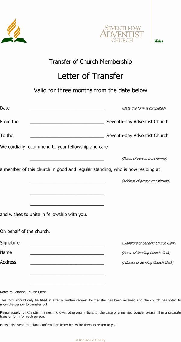 Sample Church Membership form Template Beautiful Download Download Sample Transfer Letter Church